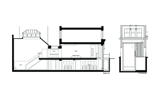 modern office house basement section drawing architect design planning approval Fitzrovia London w1