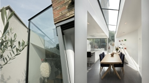 Clapham sw8 - architect designed house extension glass roof  full glazing