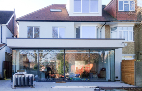 kew architect design extension full width glazing