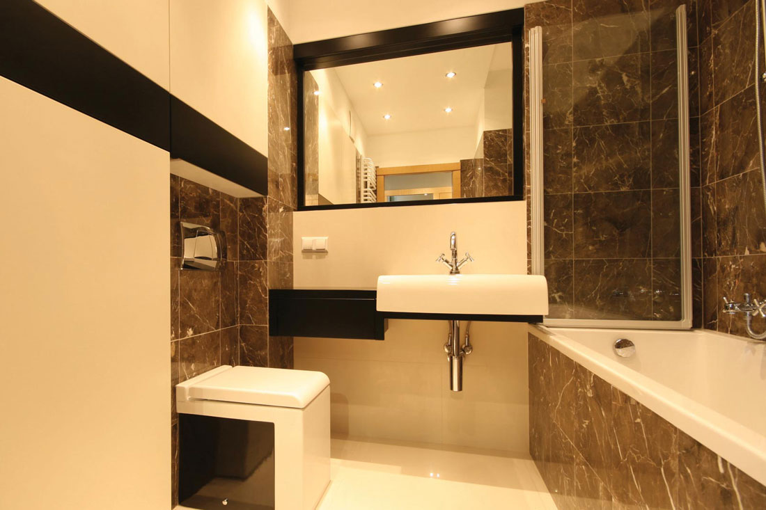 modern flat interiors bathroom design architect full service planning approval