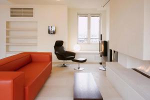 modern apartment living room architect design planning approval Soho London w1