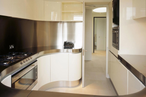 modern flat interiors kitchen design architect planning approval Soho London w1